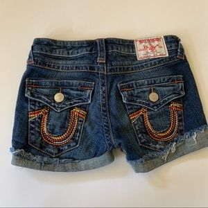 True Religion Embroidered Pocket Cuffed Hem Short